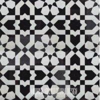 Moroccan Monochrome black and white pattern