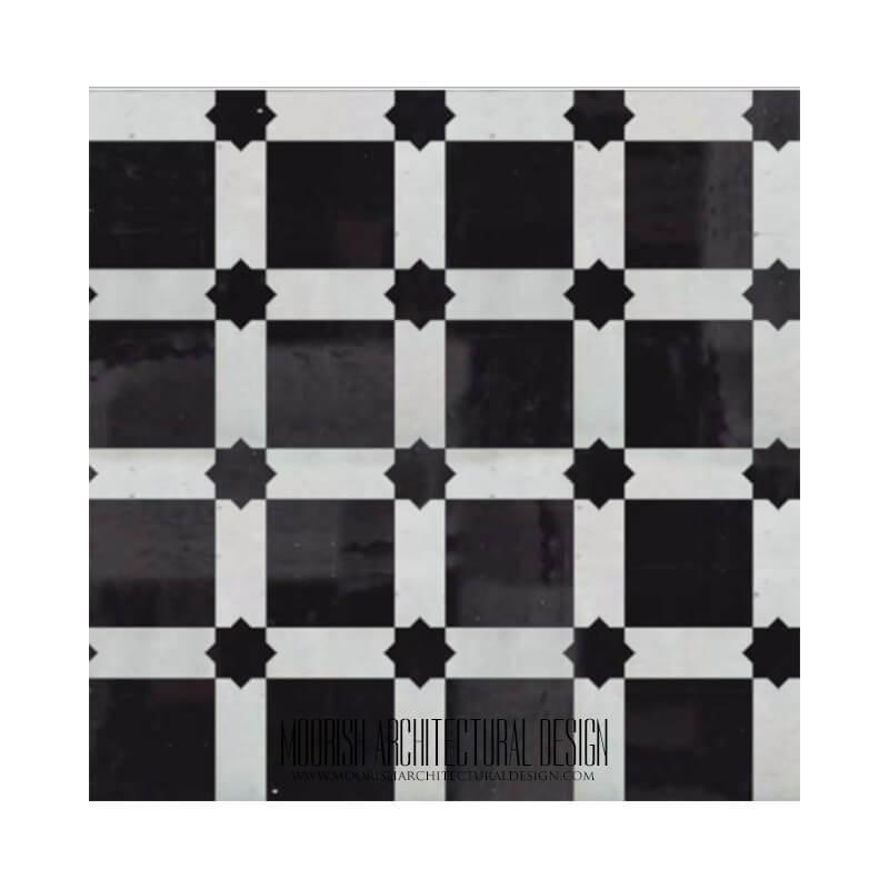 black and White Kitchen zellige tiles