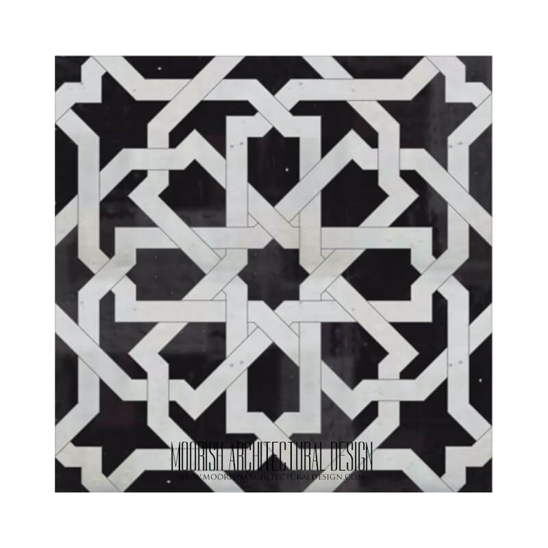 Black and White Moroccan Bathroom Tile & Design Ideas zellige
