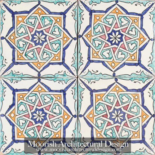 Moroccan Hand Painted Tile 47