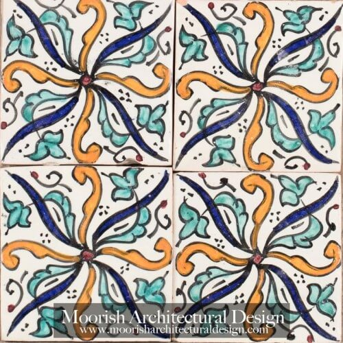 Moroccan Hand Painted Tile 52