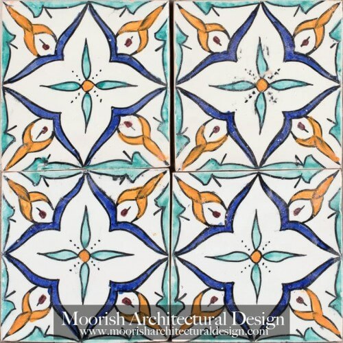 Moroccan Hand Painted Tile 54