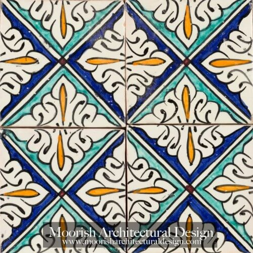Moroccan Hand Painted Tile 55