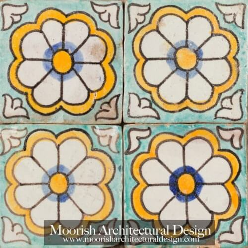 Moroccan Hand Painted Tile 56