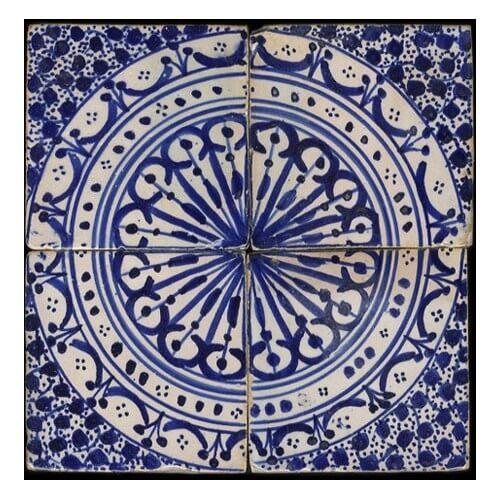 Fez tiles blue moroccan tile blue white moroccan tiles for Fez tiles