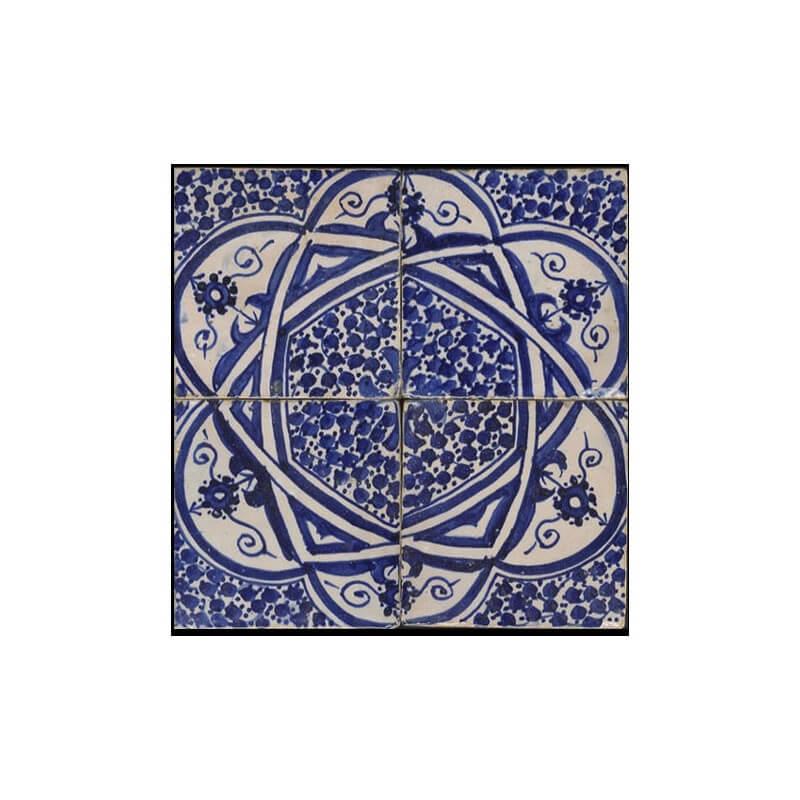 Blue white Moroccan Tile