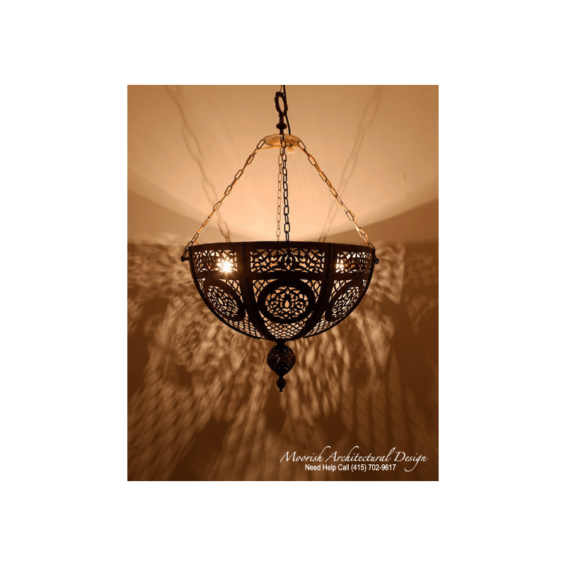 Moroccan Pierced Brass Pendant Lights