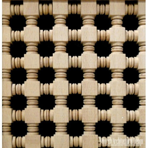Moroccan Wood Lattice Screen 01