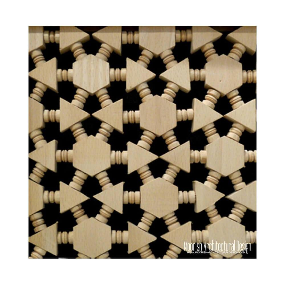 Moroccan wood lattice screen los angeles for Lattice screen