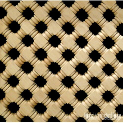 Moroccan Wood Lattice Screen 03