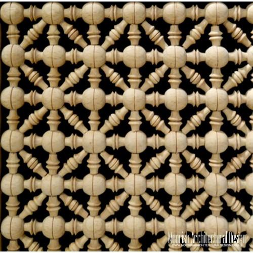 Moroccan Wood Lattice Screen 05