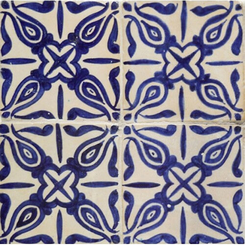Moroccan Hand Painted Tile 08
