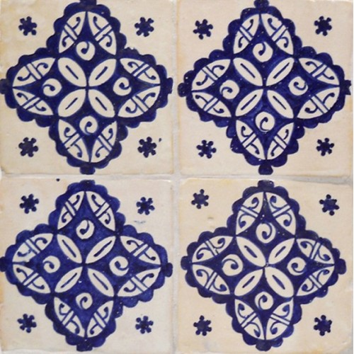 Moroccan Hand Painted Tile 09