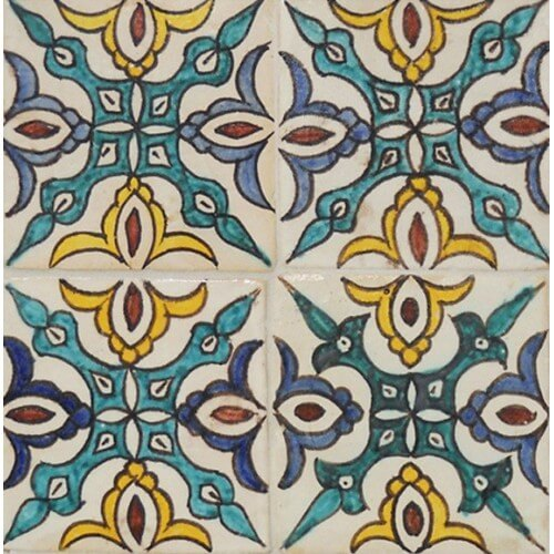 Moroccan Hand Painted Tile 18