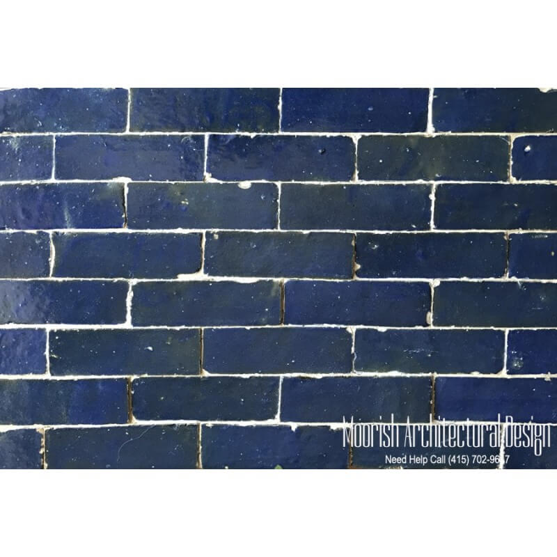 Blue Moroccan Subway Tiles