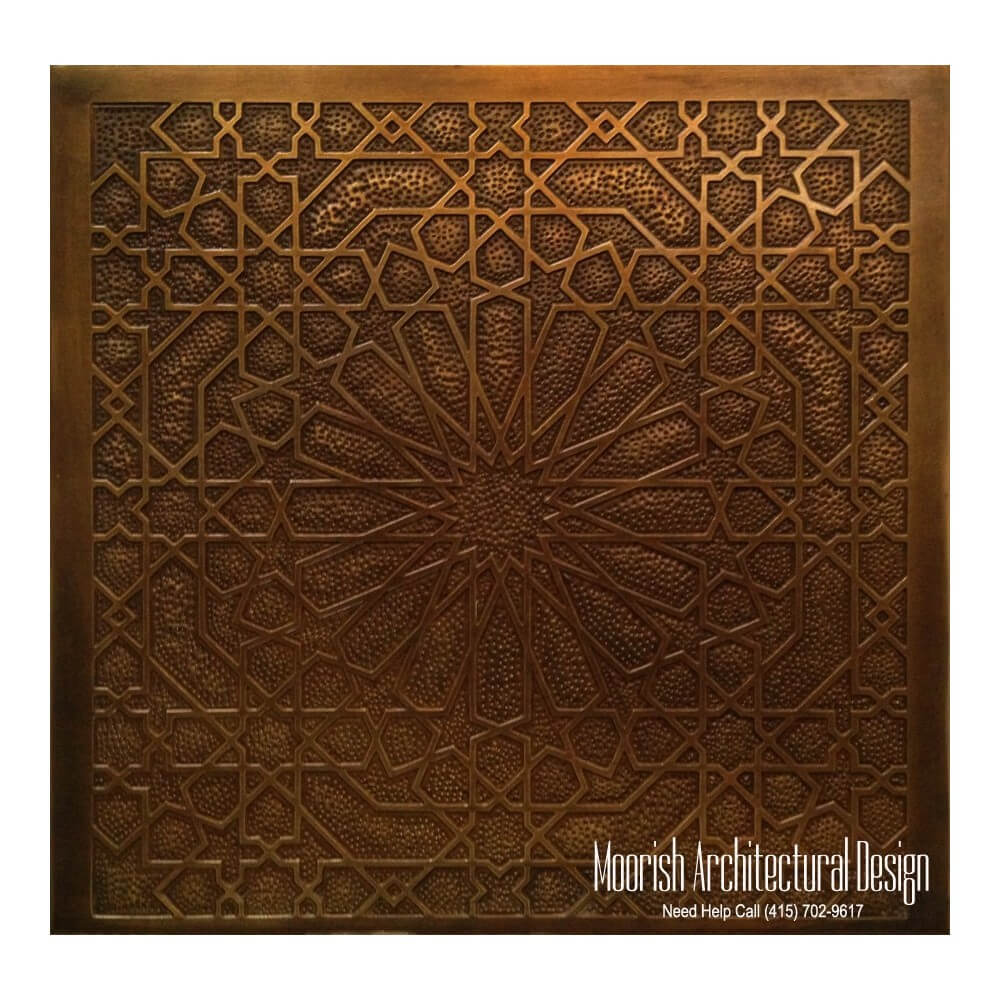 Moroccan Style Brass Decorative Panels For Cabinet