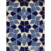 Blue Moroccan pool tile