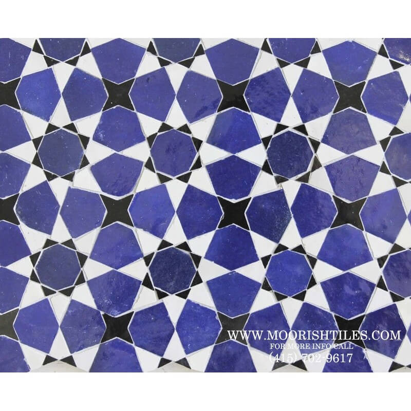 Blue & White Moroccan Tile