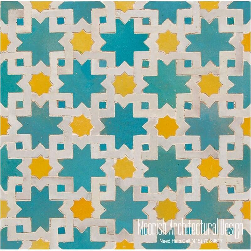 Moroccan mosaic tile pattern