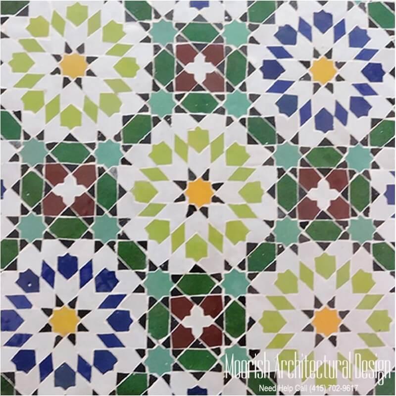 Moorish bathroom wall tile