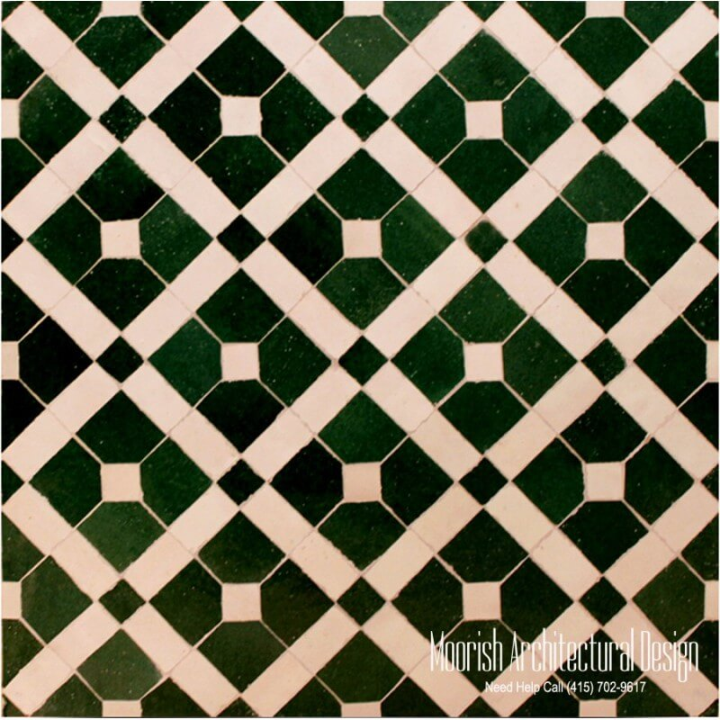 Moroccan Tile Checkerboard pattern