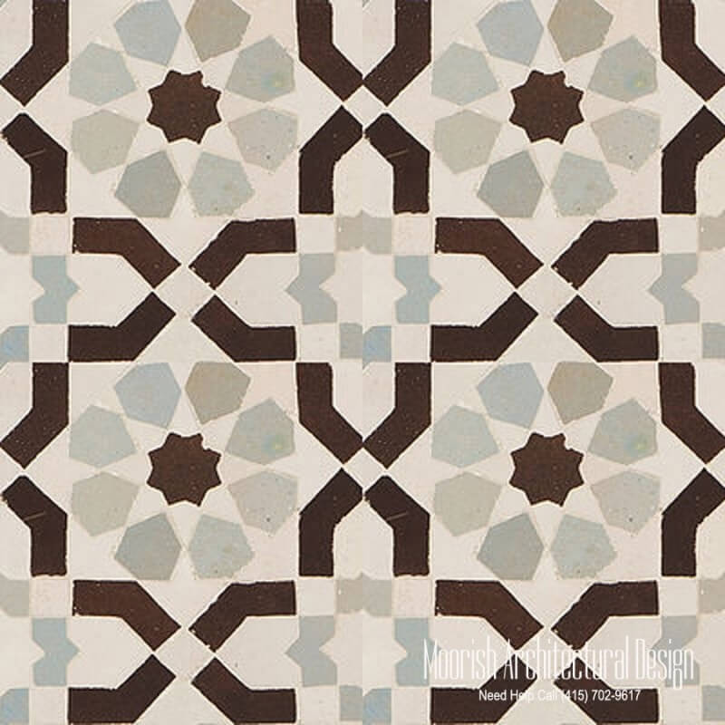 Moroccan shower floor tile