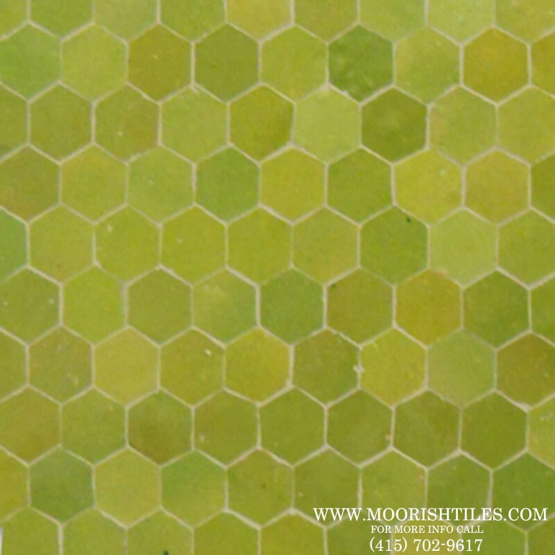 Green Hexagon Tile