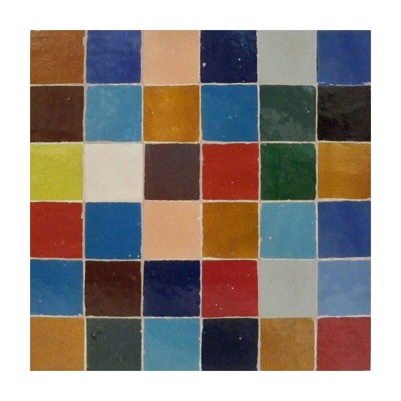 Multi color square mosaic Tile