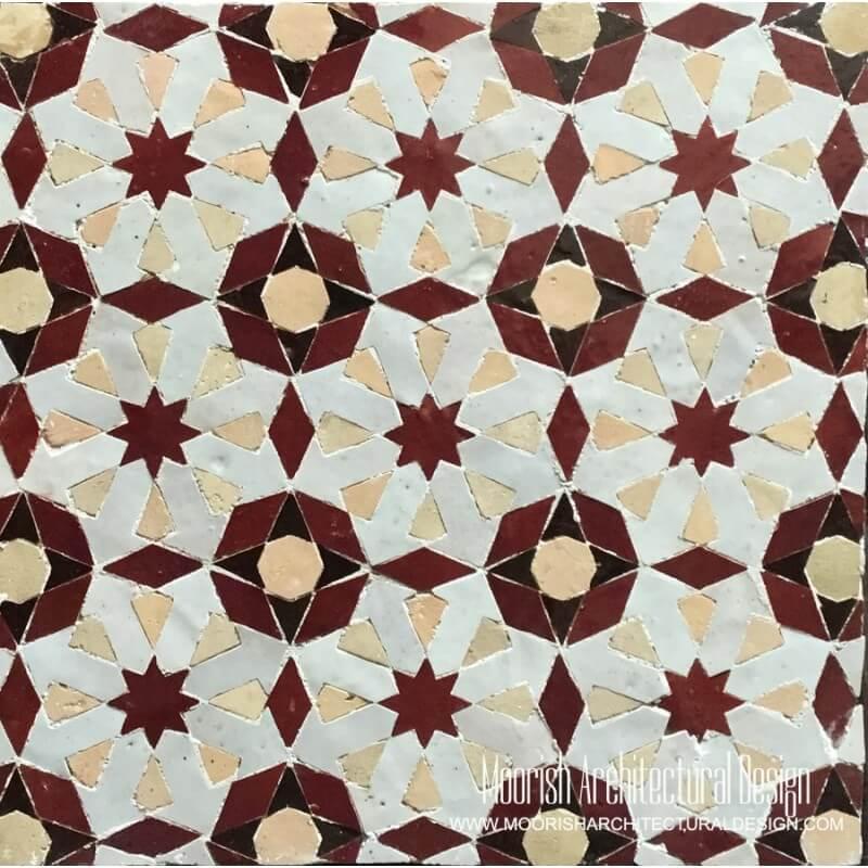 Red Moorish Tile