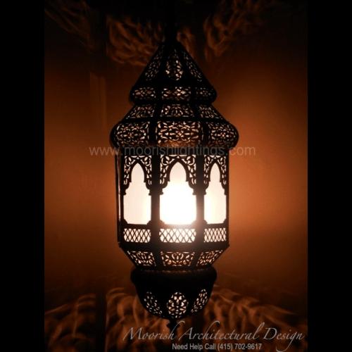 Moroccan patio pendant light