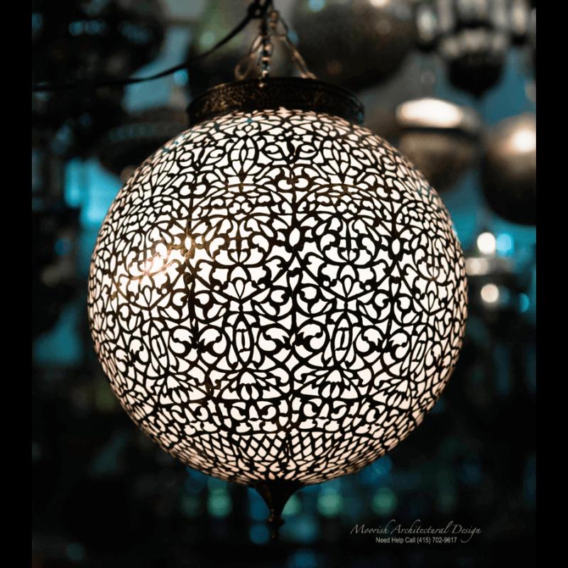 Ethnic pendant light