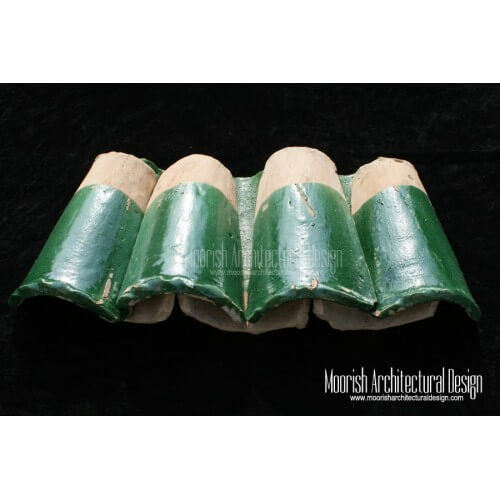 Green Moroccan Roof Tile