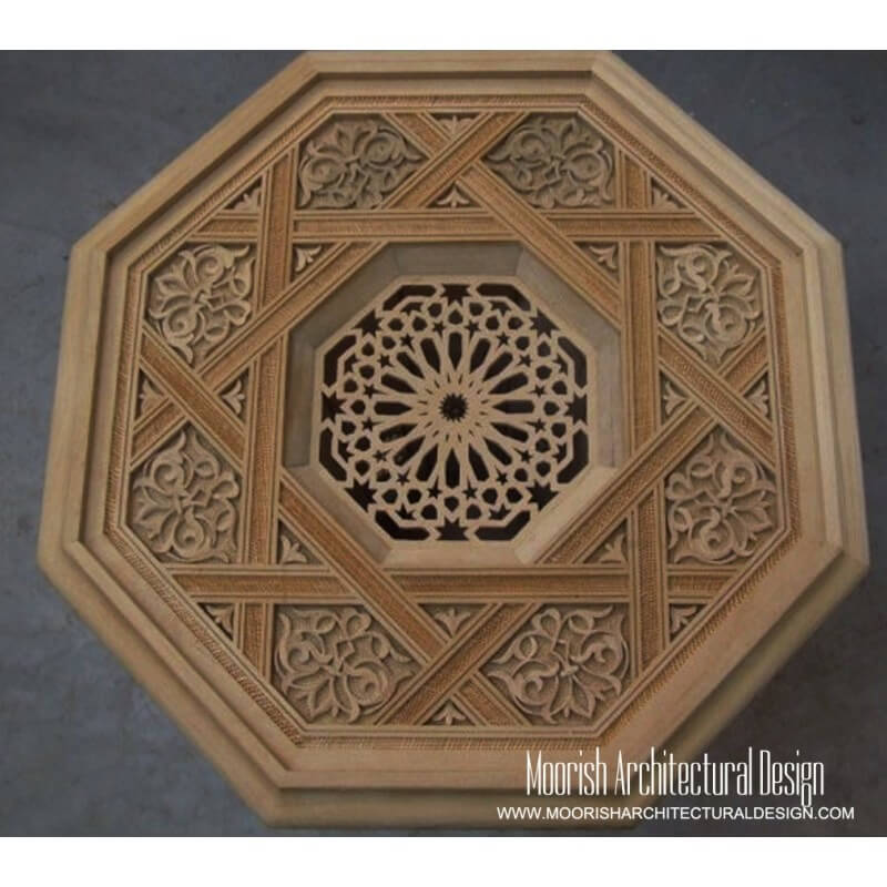 Moroccan Carved Wood Panel