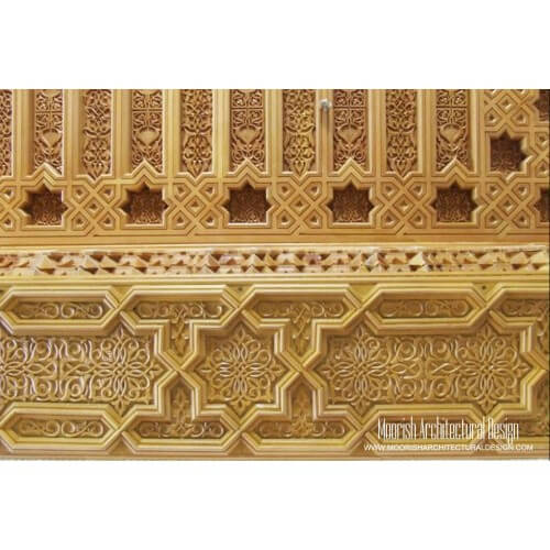 Moroccan Carved Wood Panel 05