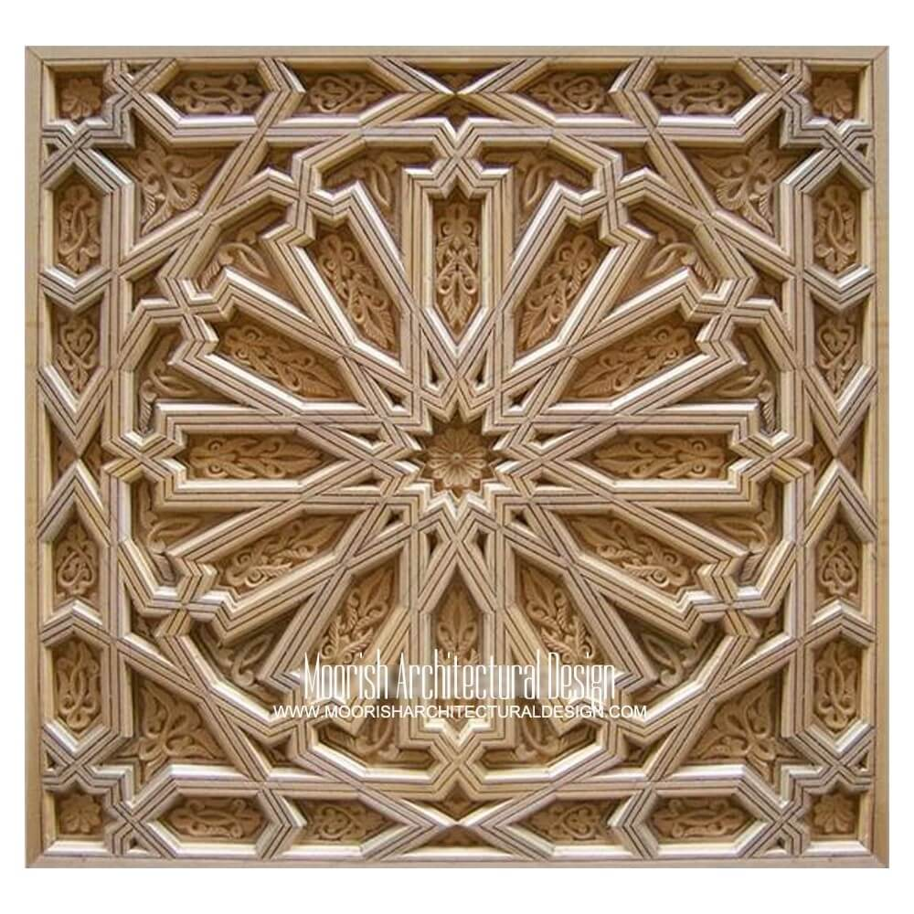 Moroccan Decorative Wood Mouldings Moorish Crown Molding