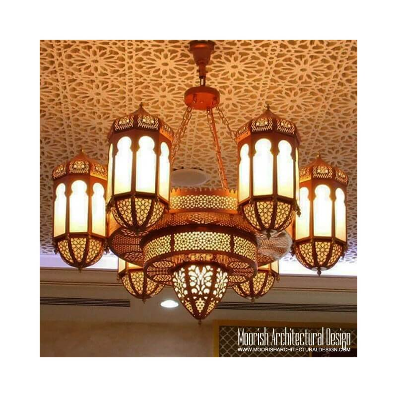 Large Moorish Chandelier
