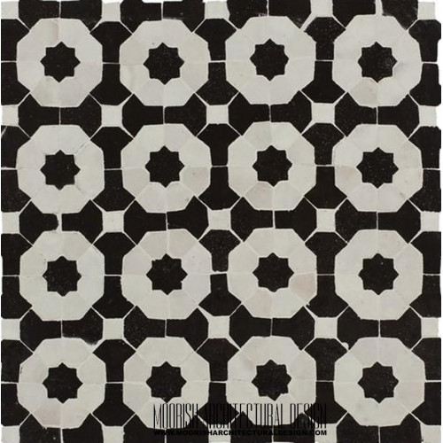 Moroccan Monochrome Tile 05