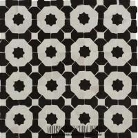Black & White Moroccan kitchen tile