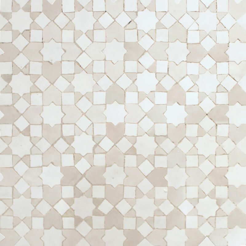 White Moroccan Kitchen tile