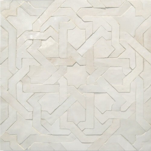 White Moroccan Tile 03