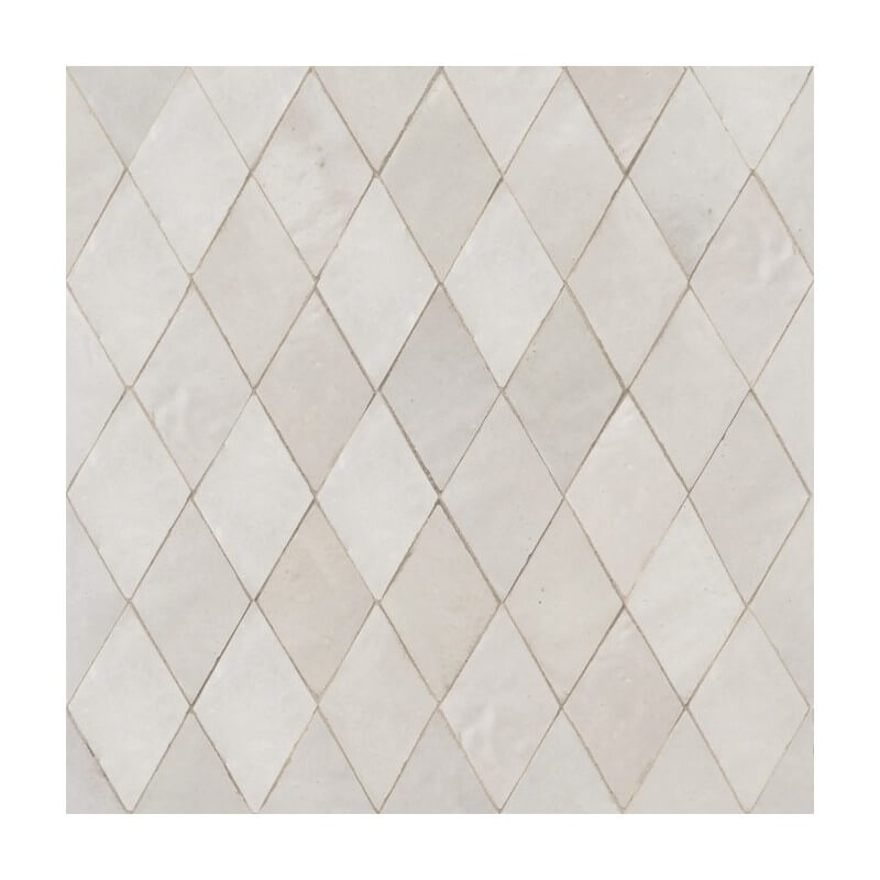 White Moroccan shower tile