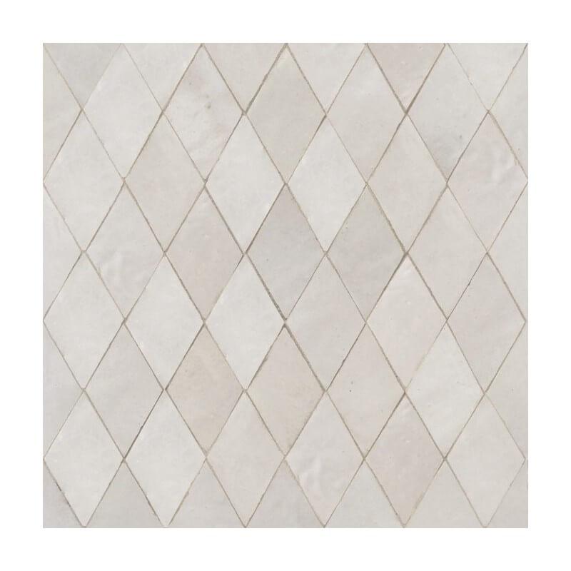 White Moroccan shower tile