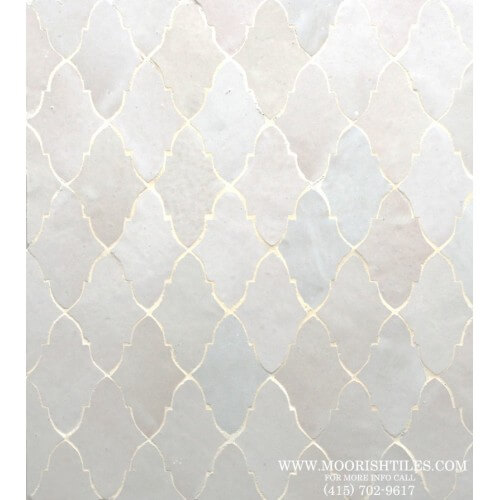 White Moroccan Tile 06