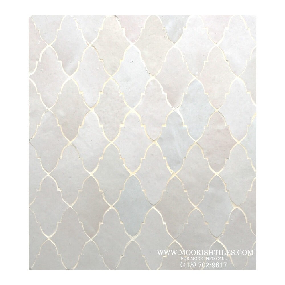 White Moorish Kitchen Floor Tile
