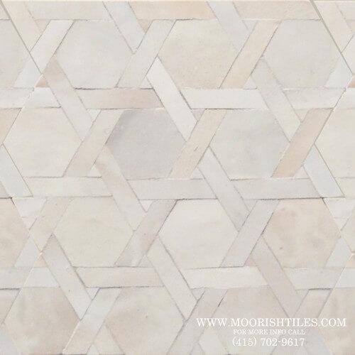 White Moroccan Tile 07