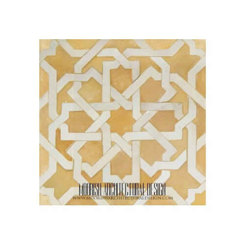 Rustic Moroccan kitchen floor tile