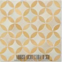Rustic Moroccan bathroom floor tile