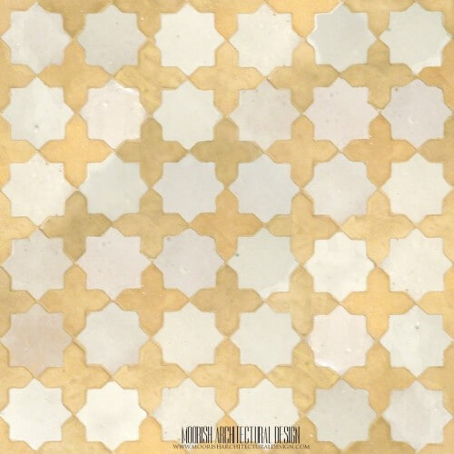 Rustic Moroccan mosaic shower tile