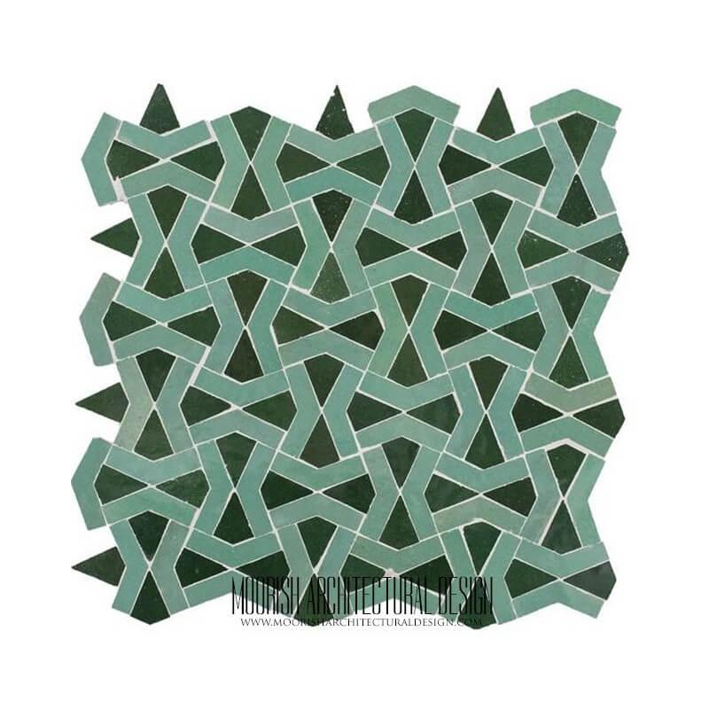 Green Moorish Bathroom Tile