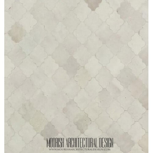 White Moroccan Tile 09